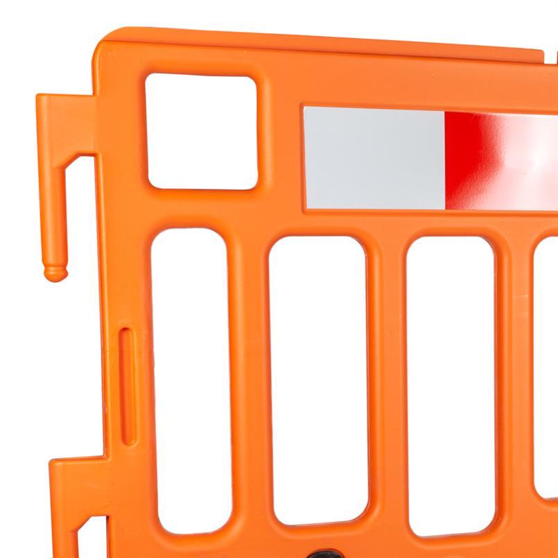 Absperrgitter aus Kunststoff orange 1000x1000mm