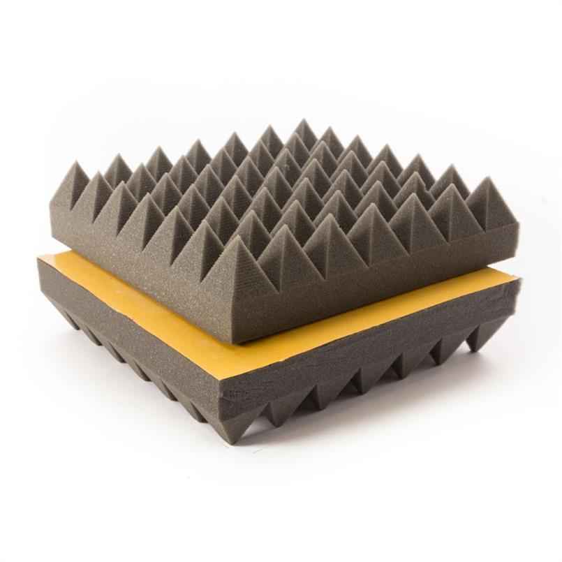 Akustik Schaumstof grau 1000x500x40mm selbstklebend (2Stück)