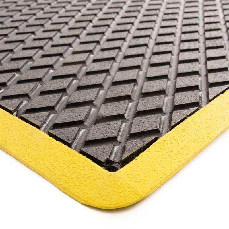 Arbeitsplatzmatte 90x60cm schwarz/gelb