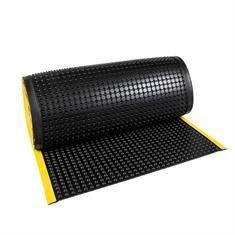 Arbeitsplatzmatte auf Rolle mit gelber Kante (90cm breit)