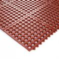 Arbeitsplatzmatte rot 90x90x1,4cm verbindbar