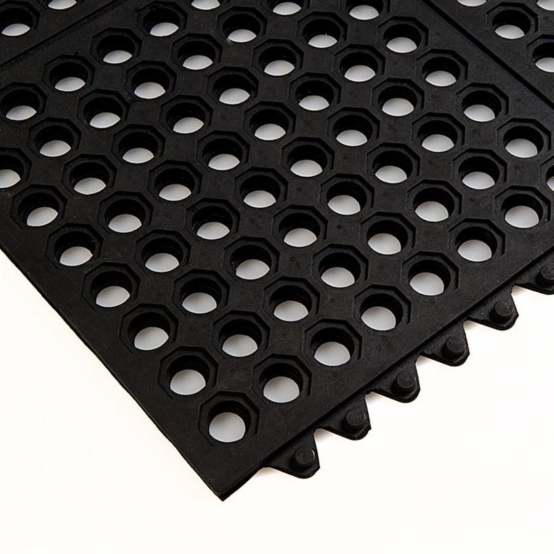 Arbeitsplatzmatte schwarz 90x90x1,4cm verbindbar