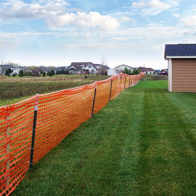 Bodenstift für Absperrgitter aus Kunststoff auf Rolle