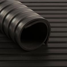 Breitriefenmatte 6 mm Schwarz (1,2 m breit)