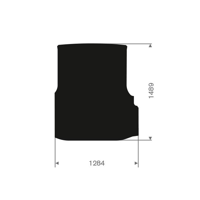 Citroen nemo mit Seitentür Frachtraum Automatte (1 Stück)