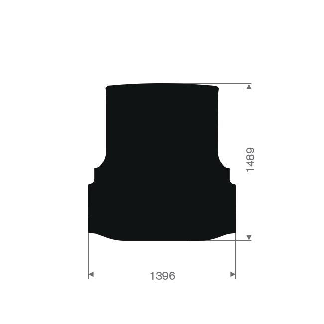 Citroen nemo ohne Seitentür Frachtraum Automatte (1 Stück)