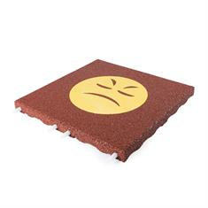Fallschutzmatte rot mit gelbem bösen Smiley