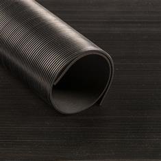Feinriefenläufer schwarz 3mm selbstklebend (Breite 120cm)