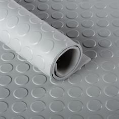 Flachnoppen Gummiläufer 3mm (100cm breit) grau