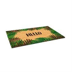 Fußmatte kokos 800x500mm Hello tropisch