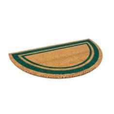Fußmatte kokos halbrund klassisch grün 700x400mm