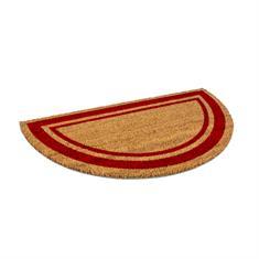 Fußmatte kokos halbrund klassisch rot 700x400mm