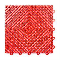 Gitterfliese hart rot 300x300x15mm