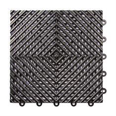 Gitterfliese hart schwarz 300x300x15mm