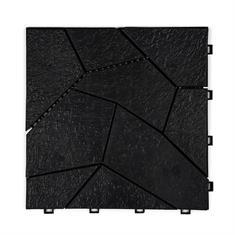 Gitterfliese Schiefer schwarz 300x300x18mm
