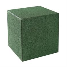 Gummiwürfel mit Bodenstift 40x40x40cm grün