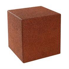 Gummiwürfel mit Bodenstift 40x40x40cm rot
