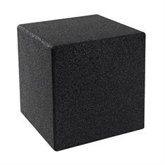 Gummiwürfel mit Bodenstift 40x40x40cm schwarz