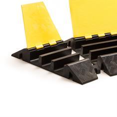 Kabelbrücke 3 Kanäle Bogenstück rechts schwarz/gelb 310x505x