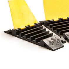 Kabelbrücke 5 Kanäle Bogenstück rechts schwarz/gelb 310x501x