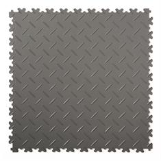 Klickfliese Riffelblech dunkelgrau 500x500x4mm