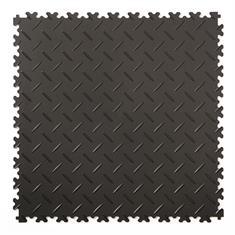 Klickfliese Riffelblech schwarz 500x500x4mm