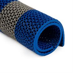 PVC Antirutschmatte grau/blau 750x120cm