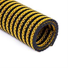 PVC Antirutschmatte schwarz/gelb klein 200x120cm