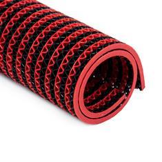 PVC Antirutschmatte schwarz/rot klein 750x120cm