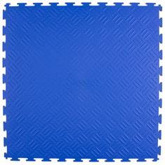 PVC Klickfliese Tränenblech blau 530x530x4mm