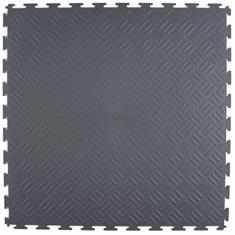 PVC Klickfliese Tränenblech dunkelgrau 530x530x4mm