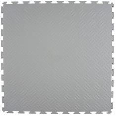 PVC Klickfliese Tränenblech hellgrau 530x530x4mm