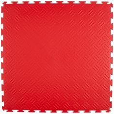 PVC Klickfliese Tränenblech rot 530x530x4mm
