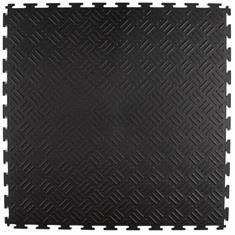 PVC Klickfliese Tränenblech schwarz 530x530x4mm
