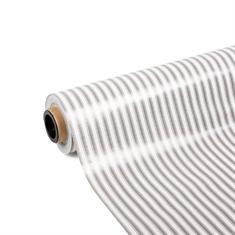 PVC Tischdecke grau gestreift (140cm breit)