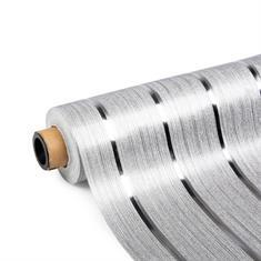 PVC Tischdecke Metallstreifen 500x140cm