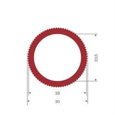 Silikon Schlauch rot DN= 23,5 BxH=30x30mm