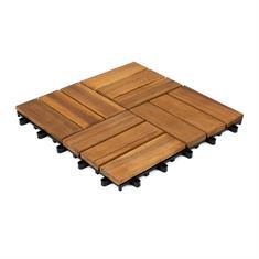 Terrassenfliesen aus Holz Malmo 30x30x2,4cm (10 stück)