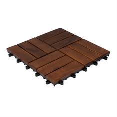 Terrassenfliesen aus Holz Stavanger 30x30x2,4cm (10 stück)