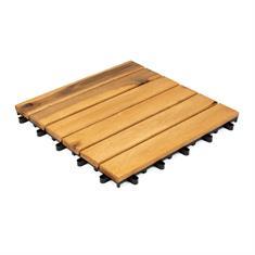Terrassenfliesen aus Holz Stockholm 30x30x2,4cm (10 stück)