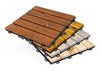 Terrassenfliesen aus Holz