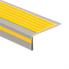 Treppenkantenprofil PVC grau/gelb LxBxH=1500x60x22mm