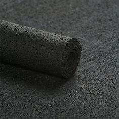 Trittschalldämmung Gummi Unterlage schwarz 6mm (100cm breit)